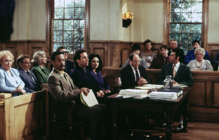 LAB08:SEINFELD:BURBANK,CALIFORNIA,14MAY98 - A scene from the final epsiode of the hit television series