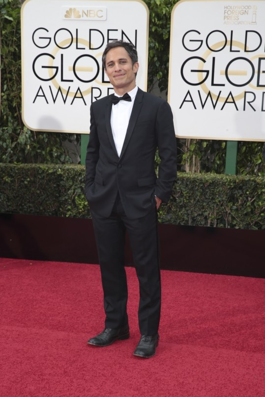 "Gael Garcia Bernal on the red carpet for the 73rd annual Golden Globe Awards at the Beverly Hilton in Beverly Hills, Calif., Jan. 10, 2016. The Golden Globes are increasingly seen as an indication of how the Oscars will play out, and this year, for all the unpredictability, expect ""Spotlight"" and Leonardo DiCaprio to take home Globes. (Monica Almeida/The New York Times)"