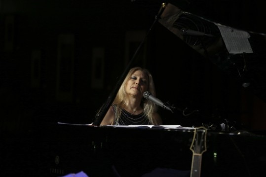"The jazz pianist Eliane Elias sings at Birdland, in New York, April 7, 2015. Elias's new album ""Made in Brazil"" is her first recorded in her home country since moving to the United States full time in 1981. (Michelle V. Agins/The New York Times)"