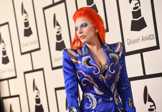 Singer Lady Gaga arrives on the red carpet during the 58th Annual Grammy Music Awards in Los Angeles February 15, 2016. AFP PHOTO/ Valerie MACON