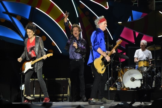 British group Rolling Stones performs in concert at Centenario stadium in Montevideo, on February 16, 2016. AFP PHOTO/PABLO PORCIUNCULA