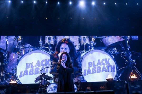 "Ozzy Osbourne performs with Black Sabbath as part of ""The End"" tour, at Madison Square Garden in New York, Feb. 25, 2016. The show was part of the band's farewell tour focusing on the heavy music it recorded between 1969 and 1976. (Chad Batka/The New York Times)"