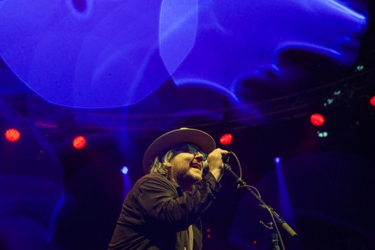 Jeff Tweedy from the band ÒWilcoÓ performs at the Solid Sound Festival at the Massachusetts Museum of Contemporary Art in North Adams, Mass., June 27, 2015. Solid Sound is determinedly upbeat, inclusive and family-friendly, drawing about 8,000 people, the festival is largely built around Jeff TweedyÕs band, ÒWilco.Ó (Lauren Lancaster/The New York Times)