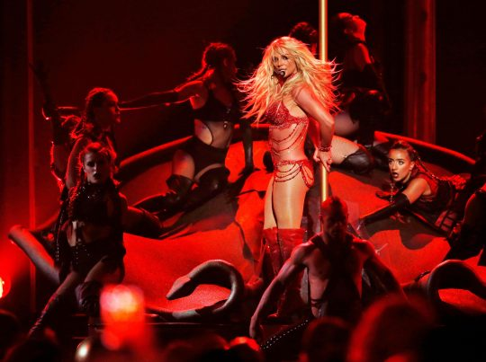 FILE PHOTO -- Millennium Award recipient Britney Spears performs a medley of songs at the 2016 Billboard Awards in Las Vegas, Nevada, U.S., May 22, 2016.