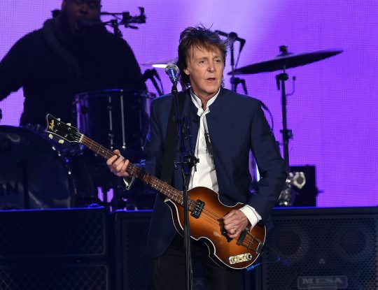 INDIO, CA - OCTOBER 15: Musician Paul McCartney performs during Desert Trip at the Empire Polo Field on October 15, 2016 in Indio, California. Kevin Winter/Getty Images/AFP