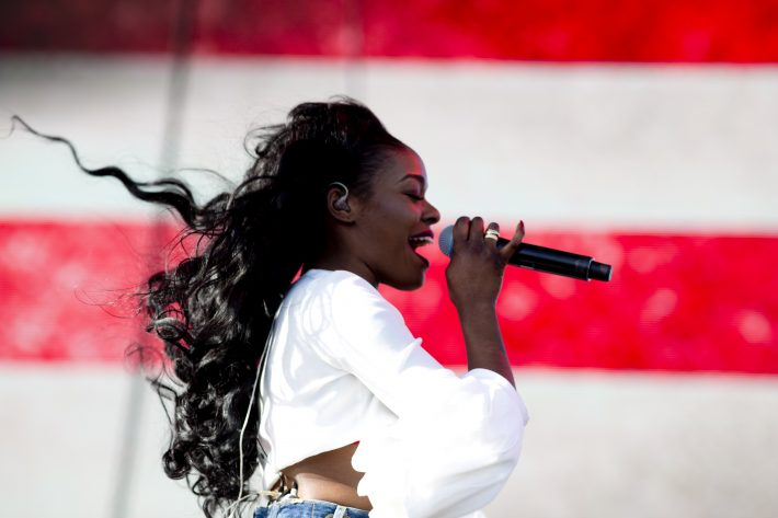 Azealia Banks performs at the Coachella Valley Music and Arts Festival, in Indio, Calif., April 10, 2015. Rap acts like Banks, Raekwon and Ghostface Killah, Lil B and Action Bronson featured on day one of Coachella - a festival that otherwise has little hip hop. (Kendrick Brinson/The New York Times)