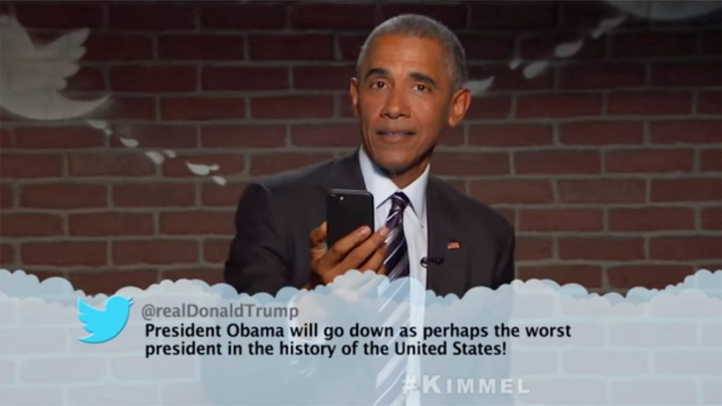 Barack Obama no programa 'Jimmy Kimmel Live!'