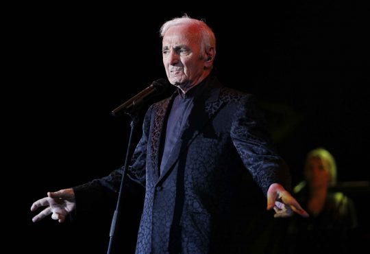 French singer Charles Aznavour performs as part of Spring of Culture 2013 in Manama March 15, 2013. REUTERS/Hamad I Mohammed (BAHRAIN - Tags: ENTERTAINMENT SOCIETY)