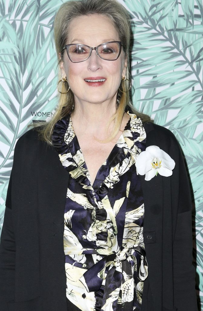 Meryl Streep arrives at the 10th Annual Women in Film Pre-Oscar Cocktail Party at Nightingale Plaza on Friday, Feb. 24, 2017, in Los Angeles. (Photo by Rich Fury/Invision/AP)