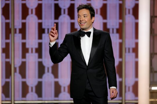 Jimmy Fallon no Globo de Ouro 2017. Foto: Paul Drinkwater/Courtesy of NBC