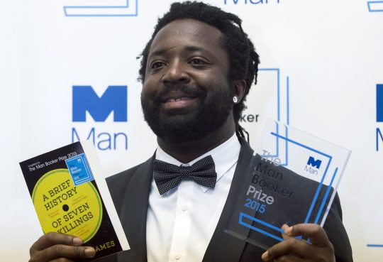 "Marlon James, author of ""A Brief History of Severn Killings"", poses for photographers after winning the Man Booker Prize for Fiction 2015 in London, Britain October 13, 2015. REUTERS/Neil Hall"