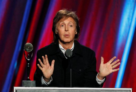 Paul McCartney em 2015. Foto: REUTERS/Aaron Josefczyk