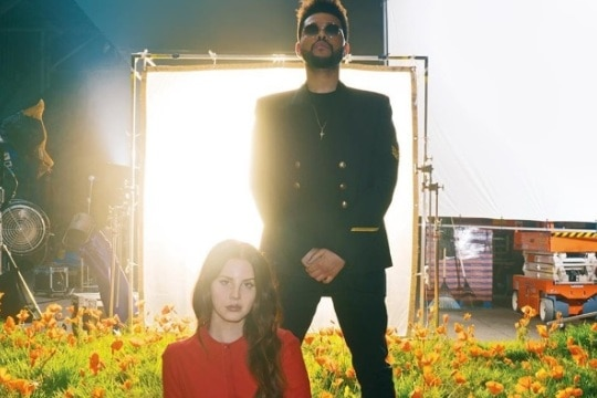 Lana Del Rey e Thee Weeknd na capa do single 'Lust For Life'. Foto: Reprodução/Interscope Records