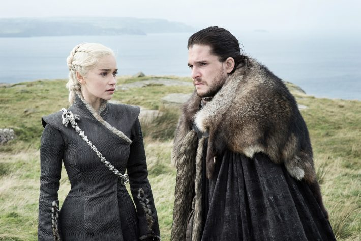 Emilia Clarke as Daenerys Targaryen and Kit Harington as Jon Snow – Photo Helen Sloan HBO