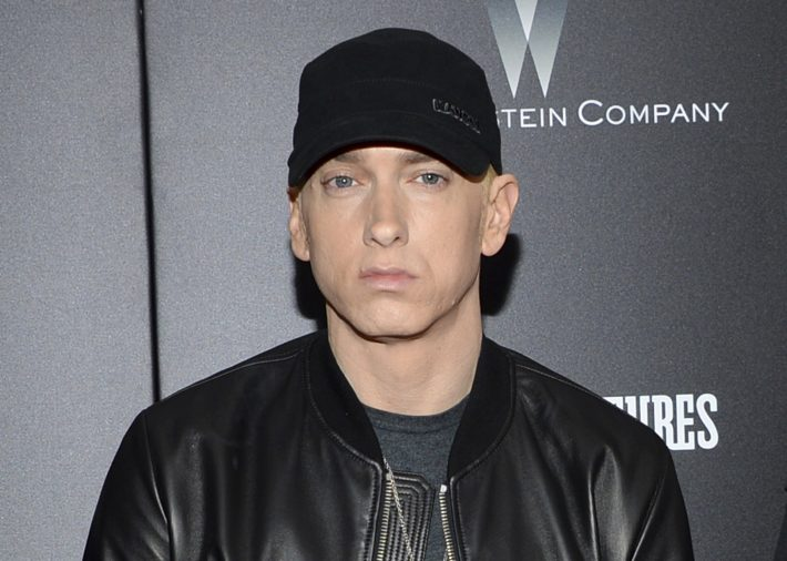 FILE - In this July 20, 2015, file photo, Eminem attends the premiere of