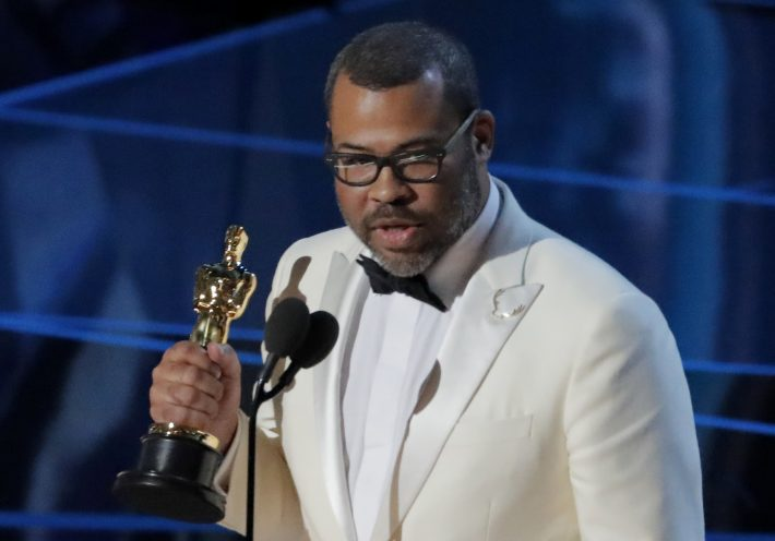 90th Academy Awards - Oscars Show - Hollywood, California, U.S., 04/03/2018 - Jordan Peele accepts the Oscar for Best Original Screenplay for