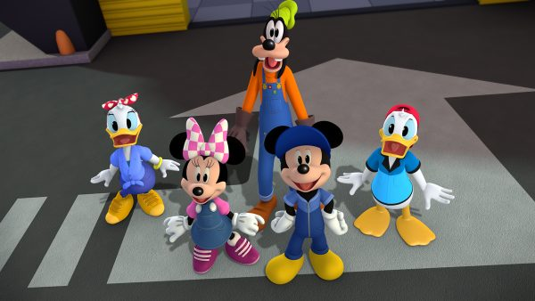 Turminha. Mickey, Minnie, Margarida, Pateta e Donald (foto: Disney)