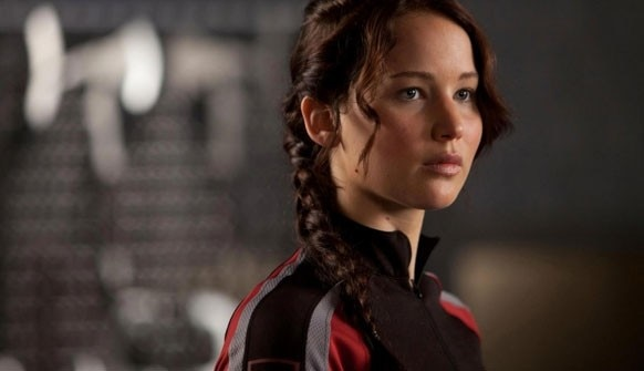 Jennifer Lawrence at 'the Hunger Games: In Flames' (photo by Paris Films)