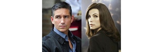 Jim Caviezel (Person of Interest) e Julianna Margulies (The Good Wife)