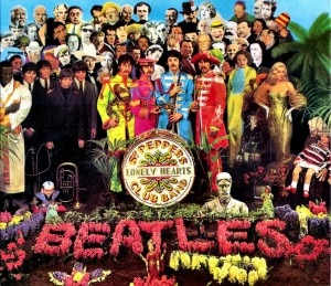 O álbum Sgt. Pepper Lonely Hearts Club Band, dos Beatles, o mais espetacular da banda inglesa.